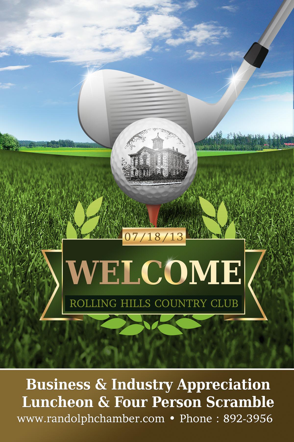 Golf Poster Spring Designs Website Design And Social